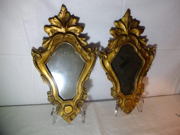 Paire de miroirs baroques Italiens