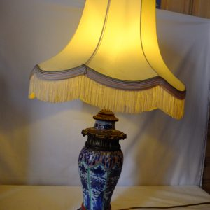Lampe Imari et bronze