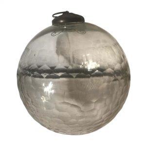 Boule de pardon en verre transparent et gravé