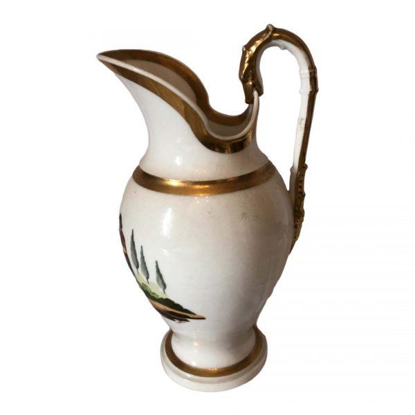 Broc à eau en porcelaine de Paris