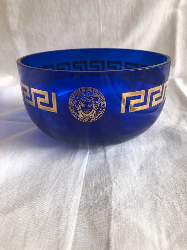 Coupe Gianni Versace bleue