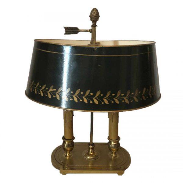 Lampe bouillotte empire avec abat-jour en tôle