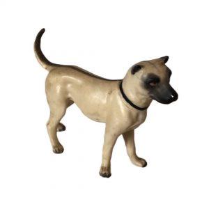 Statuette petit chien en porcelaine ancien