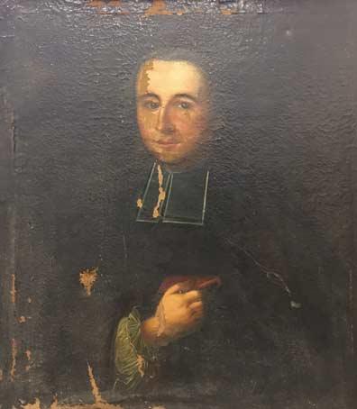 Un tableau ancien avant restauration