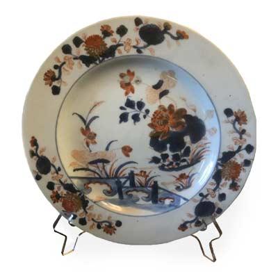 Assiette décorée ancienne brocanteur
