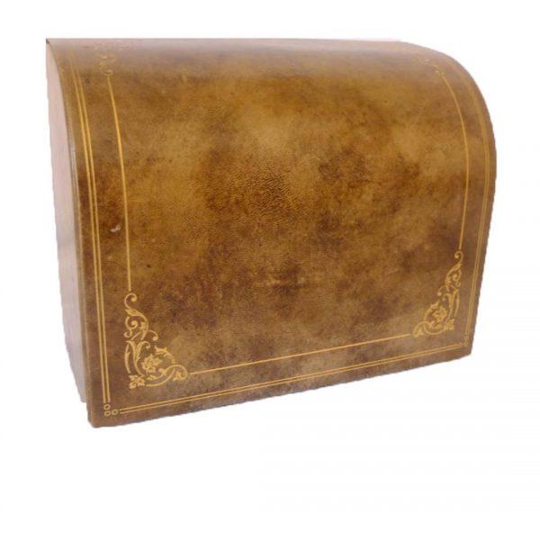 Porte courrier en cuir