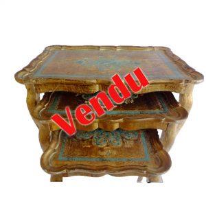 Tables anciennes décor florentin