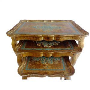 Tables gigognes florentines bleues