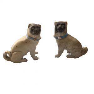 chiens en porcelaine